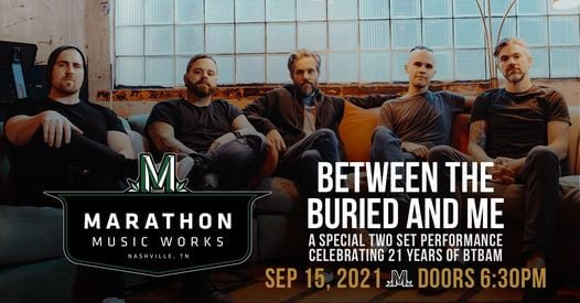 Between The Buried And Me at Marathon Music Works, 15 September   Event in Nashville   AllEvents.in