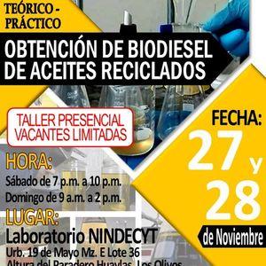 Taller Prctico Obtencin de Biodiesel de Aceites Reciclados