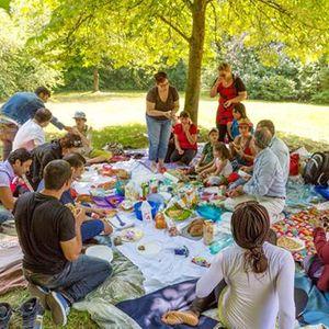 Picknick im Wasserwald fr Gro und Klein