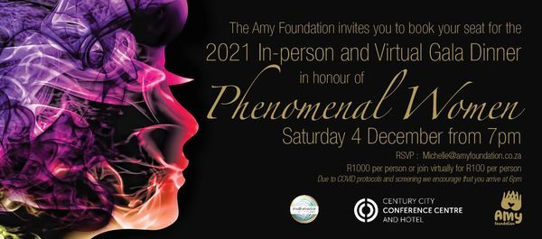 Amy Foundation Annual Gala Dinner Celebration and Auction 2021, 4 December | Event in Elsies River | AllEvents.in