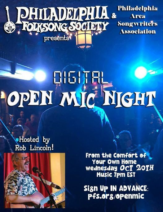 PFS & PASA - Digital Open Mic Night   Online Event   AllEvents.in