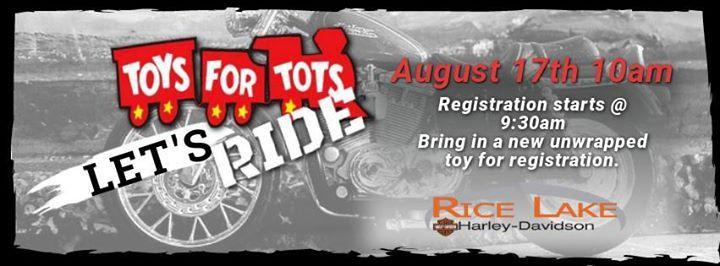 Toys For Tots Ride 2019 At Rice Lake Harley-Davidson, Rice