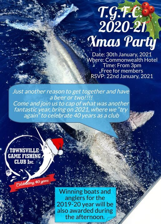 TGFC 2020/2021 Xmas Party, 30 January | Event in Townsville | AllEvents.in