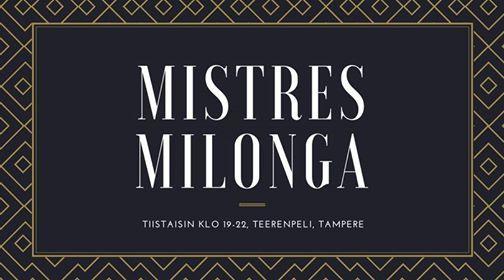 17.12.2019 MisTres Milonga Dj Jenni Valli