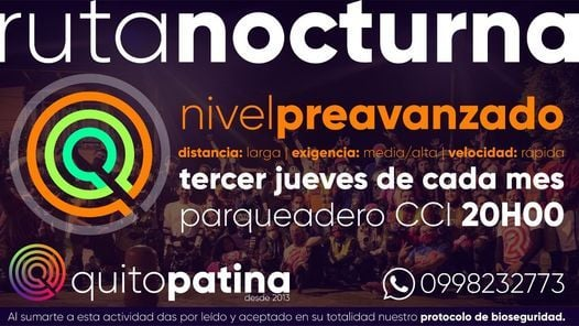 Ruta Nocturna Nivel 3, 20 May   Event in Quito   AllEvents.in