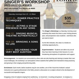 Singers Workshop - Acting & Stage Presence in Any Song