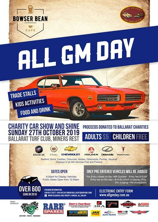 Annual All GM Day 2019 Charity Car Show and Shine at Dowling