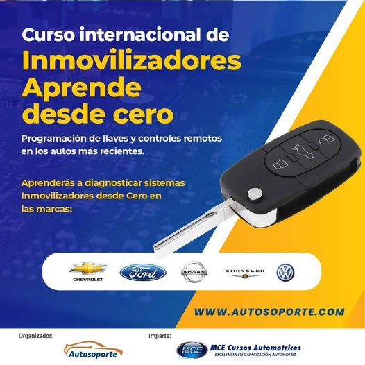 Curso de Inmovilizadores | Desde 0, 15 March | Event in Suba | AllEvents.in