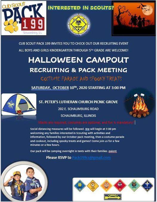 Halloween Pictures 2020 Schaumburg Halloween Campout & Recruiting, St. Peter Lutheran Church & School