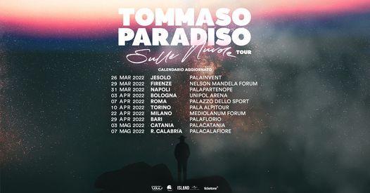 Tommaso Paradiso in concerto a Roma *nuova data, 22 April | Event in Frascati | AllEvents.in