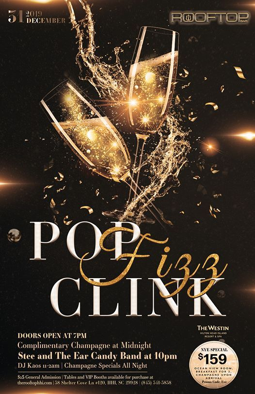 Rooftop NYE Bash- Pop Fizz Clink