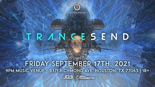 TRANCESEND: Optic Annihilation, 20 August | Event in Stafford | AllEvents.in