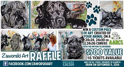 Zaworski Art Raffle for AARCS at Alberta Animal Rescue Crew
