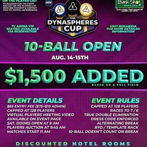 The DynaSpheres Cup Doubles 8-Ball Championship- 1500 ADDED