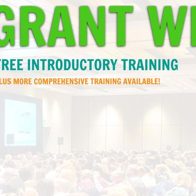 Grant Writing Introductory Training...Boulder Colorado