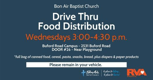 Drive Thru Food Distribution (free) | Event in Richmond | AllEvents.in