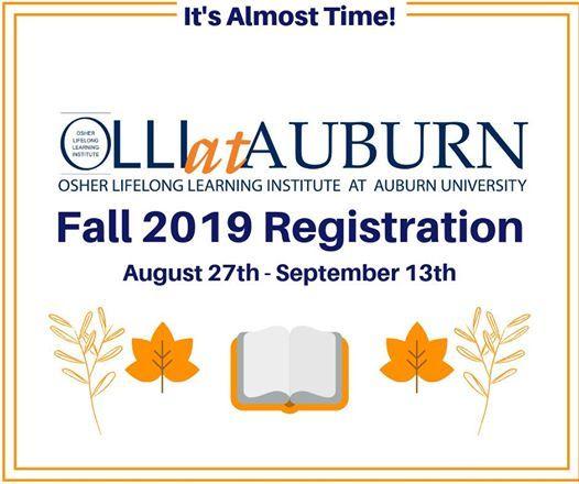 OLLI at Auburn Fall 2019 Registration | Auburn