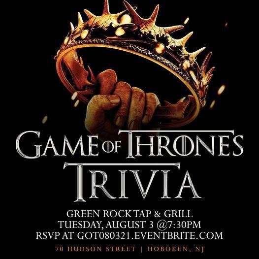 Game of Thrones Trivia, 3 August | Event in Hoboken | AllEvents.in