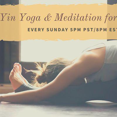 live yin yoga  meditation for sleep on alleventsin
