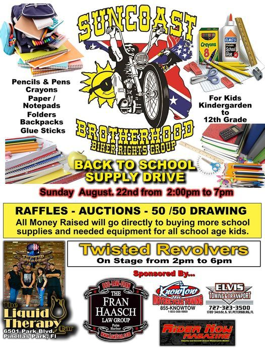 Suncoast Brotherhood Back to School Supply Drive, 22 August | Event in Belleair Beach | AllEvents.in