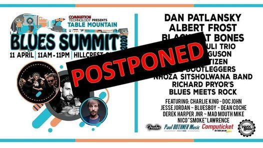 Table Mountain BLUES Summit 2021 - DATE TO BE CONFIRMED, 5 March | Event in Bellville | AllEvents.in