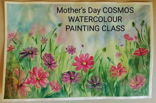 MOTHER'S DAY COSMOS WATERCOLOUR PAINTING WORKSHOP | Event in Randburg | AllEvents.in