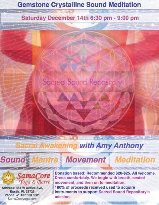 "Gemstone Crystalline Sound Meditation ""Sacral (2nd chakra"