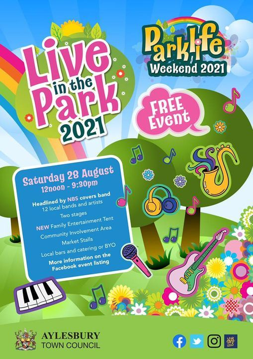 Live in the Park 2021, 28 August   Event in Aylesbury   AllEvents.in