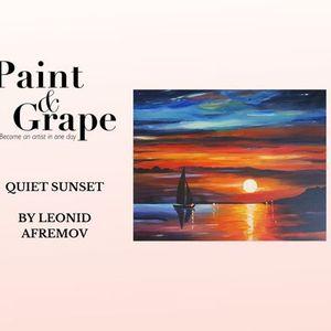 Paint & Grape Quiet Sunset by Leonid Afremovv