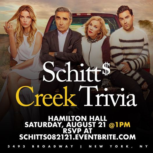 Schitt's Creek Trivia, 21 August   Event in Palisades Park   AllEvents.in