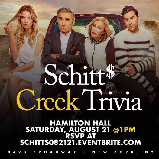 Schitt's Creek Trivia, 21 August | Event in Palisades Park | AllEvents.in
