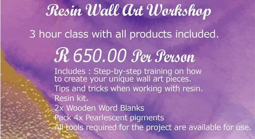 Wall Art Resin Workshop, 12 May | Event in Boksburg | AllEvents.in