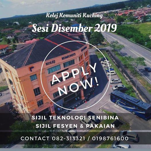 Pendaftaran Pelajar Baharu Sesi Disember 2019 Kolej Komuniti KCH