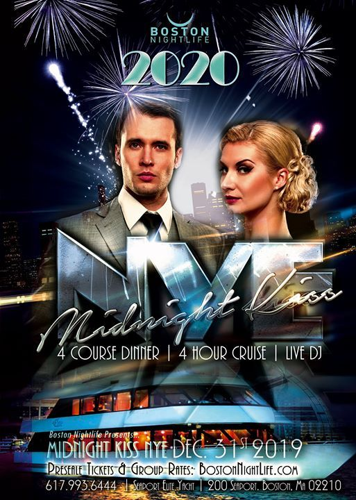 Boston New Years Eve 2020.Midnight Kiss Boston New Years Eve 2020 At 200 Seaport Blvd
