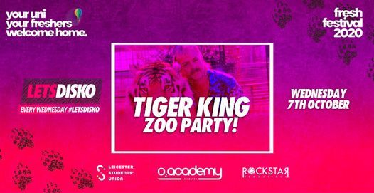 LetsDisko Tiger King Freshers Zoo Party