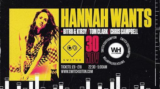 Warehouse Presents Hannah Wants