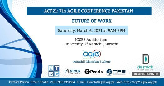 7th Agile Conference Pakistan 2021, 6 March | Event in Sanghar | AllEvents.in