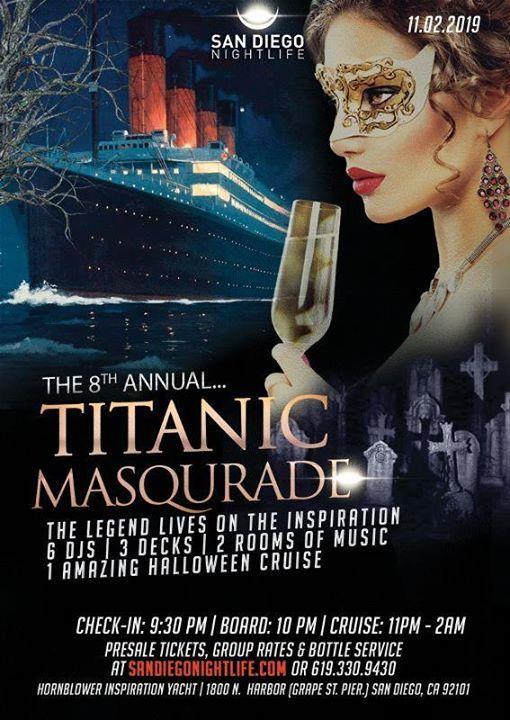 Pier Pressure San Diego Halloween Cruise 8th Annual Titanic Masq