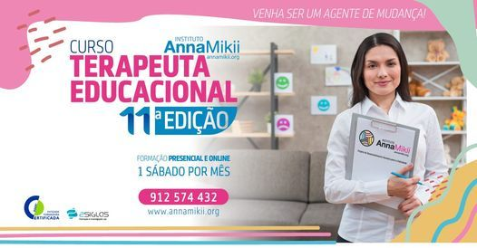 11ª Edição | Nova Turma do Curso Terapeuta Educacional, 22 May | Event in Seixal | AllEvents.in