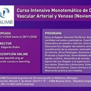 Curso de Doppler Vascular Arterial y Venoso (Noviembre) 2020