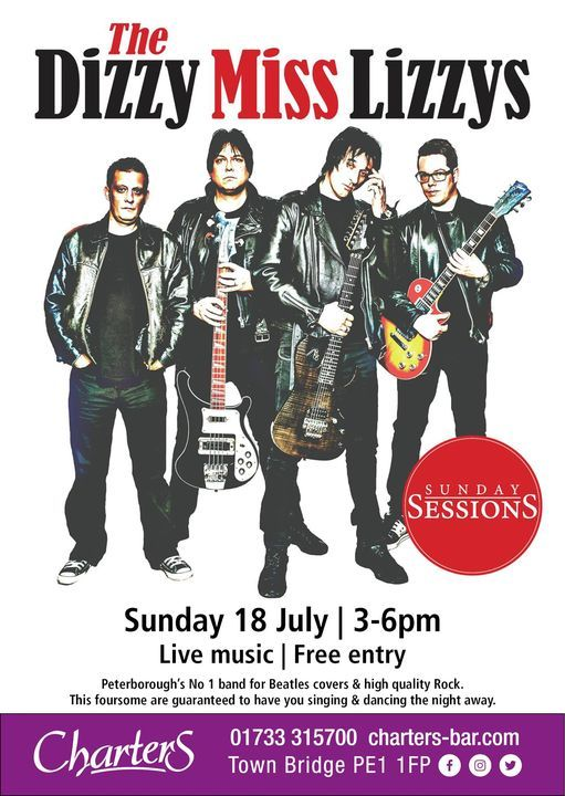 The Dizzy Miss Lizzy's, 18 July | Event in Peterborough | AllEvents.in