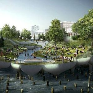 Hudson River Floating Island Park