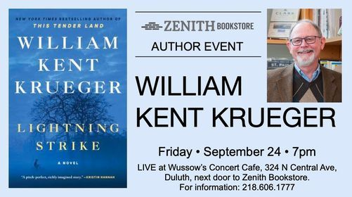 William Kent Krueger Presents Lightning Strike, 24 September   Event in Duluth   AllEvents.in