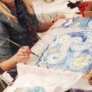 Notte stellata di Van Gogh. Interpretazioni sulla seta