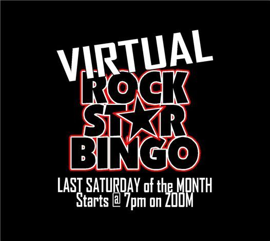 VIRTUAL Rock Star Bingo / Last Saturday of the Month / LIVE on Zoom @ 7pm, 30 January | Event in Davenport
