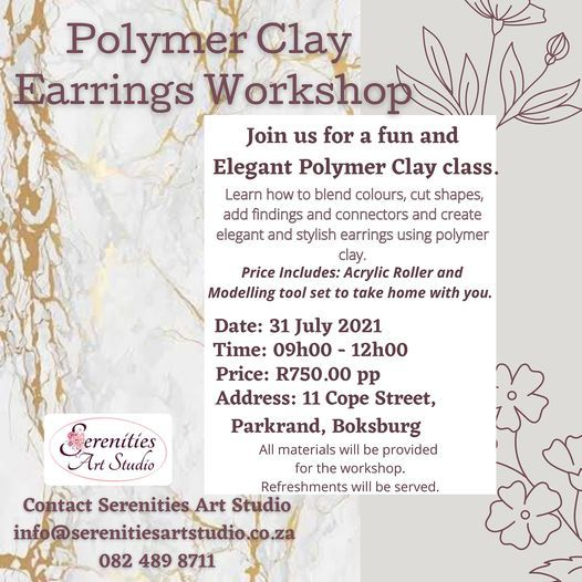 Polymer Clay Earring Workshop | Event in Boksburg | AllEvents.in
