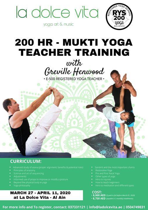 200-Hour Mukti Yoga Teacher Training