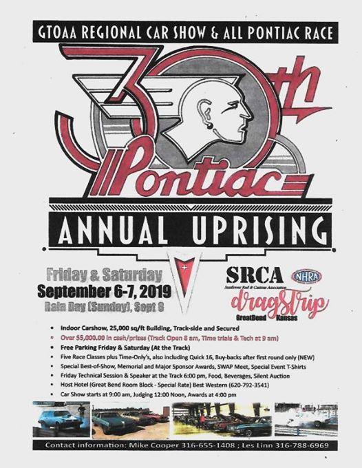 30th Pontiac Annual Uprising at Srca Dragstrip, Great Bend
