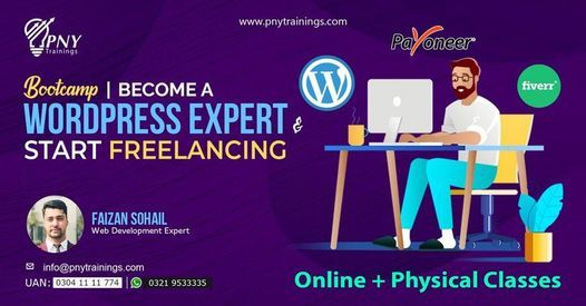 Bootcamp | Become a WordPress Expert & Start Freelancing, 21 May | Event in Lahore | AllEvents.in