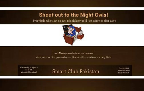 Meetup for the Late Night Sleepers to talk about Sleep Patterns
